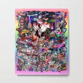 Pink Submarine Metal Print