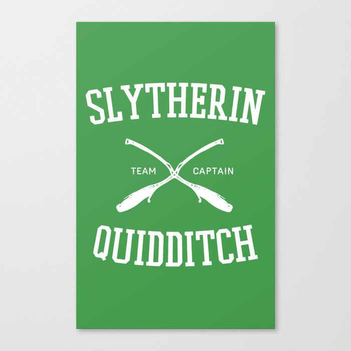 Hogwarts Quidditch Team: Slytherin Canvas Print