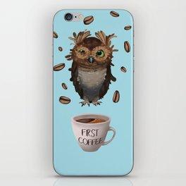 Coffee First iPhone Skin