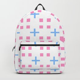square and greek cross 1 - blue and pink Backpack
