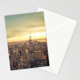 New York Skyline Cityscape Stationery Cards