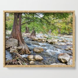 Guadalupe River in Texas Serving Tray