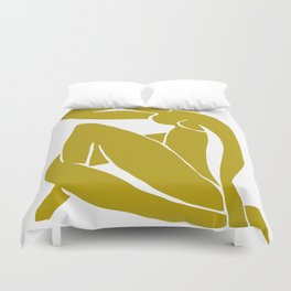 Matisse Cut Out Figure #2 Mustard Yellow Duvet Cover