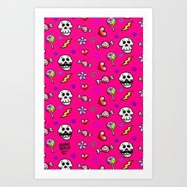 Skulls 'n' Flowers Art Print