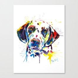 Colorful Dalmatian Illustration Canvas Print