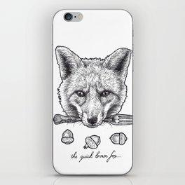 Quick Brown Fox iPhone Skin