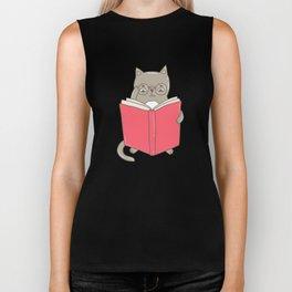 Cat booklover Biker Tank