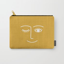 wink / mustard Carry-All Pouch