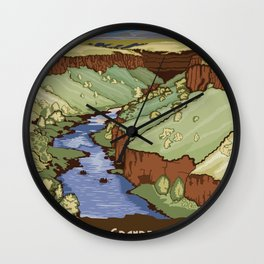Vintage Poster - Rio Grande del Norte National Monument, New Mexico (2015) Wall Clock