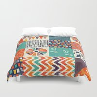 alisa burke Duvet Covers featuring OUT OF AFRICA by Daisy Beatrice