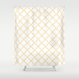 Criss Cross Shower Curtain