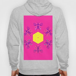 Pink Bees by #Bizzartino Hoody