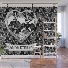 Amor Eterno | Eternal Love | Calavera Couple | Black and White | Wall Mural