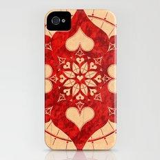 lianai hearts redstone mandala Slim Case iPhone (4, 4s)