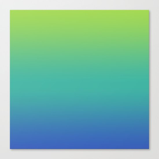 Green Gt Teal Gt Blue Fade Canvas Print By N A T Society6