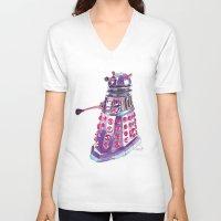 dalek V-neck T-shirts featuring Dalek by BlueAcorn