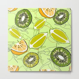 citrus fruits Metal Print