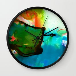 Abstract Bliss 4H by Kathy Morton Stanion Wall Clock