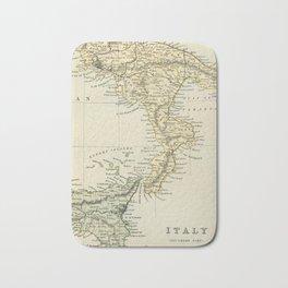 Vintage Retro Map Southern Italy Bath Mat