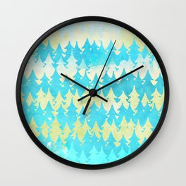 The secret forest - on a wonderful day - Abstract tree pattern Wall Clock