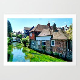 The River Stour at Canterbury  Art Print
