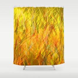 Warm grasses Shower Curtain