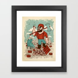 Paul Bunyan & Babe Framed Art Print