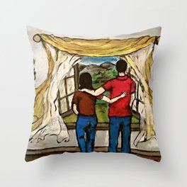An Open Window Throw Pillow