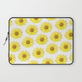 Sunflowers On White Laptop Sleeve