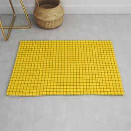 Yellow Grid Black Line Rug