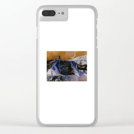 The Great White Wolf at the Travertine Hot Springs Clear iPhone Case