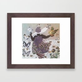 The Butterfly Witch Framed Art Print
