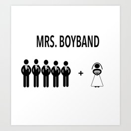 Mr. and Mrs. Boyband Art Print