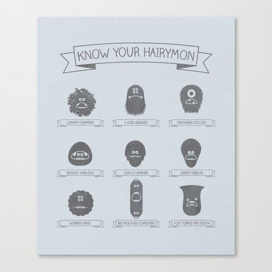 Know Your Hairymon Canvas Print