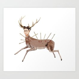 deer frida kahlo Art Print
