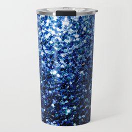 Beautiful Dark Blue glitter sparkles Travel Mug