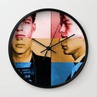 frank sinatra Wall Clocks featuring Classic Frank Sinatra  by Brandon Minieri