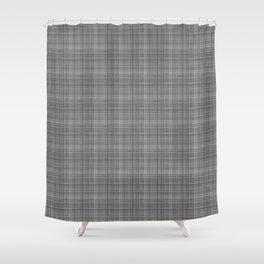 Grey glen plaid Shower Curtain
