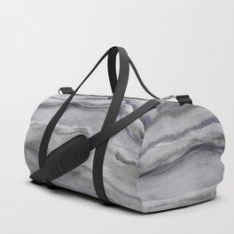 Watercolor Agate in Gray Duffle Bag