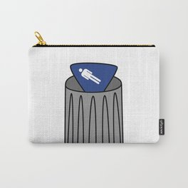 Men Sign in Trash Carry-All Pouch