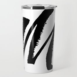 Letter M Ink Monogram Travel Mug