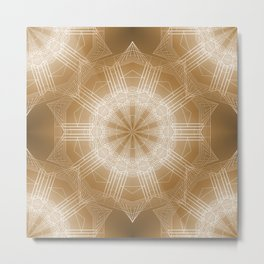Astra Aliena (gold) Metal Print