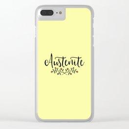 Jane Austen Floral Austenite Clear iPhone Case