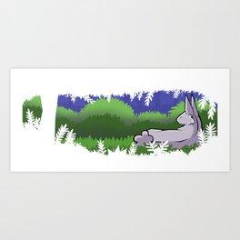 Forest Bunny Art Print