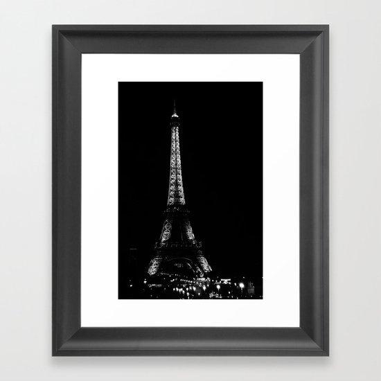 Paris by night Framed Art Print