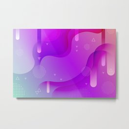 ABSTRACT SCIENCE TECHNOLOGY DESIGN Metal Print