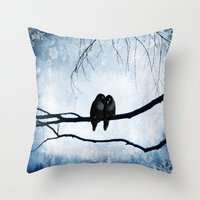 lovers Throw Pillows featuring Lovers by SensualPatterns