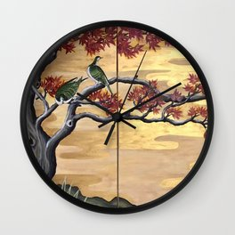 Japanese Fall Leaves Wall Clock