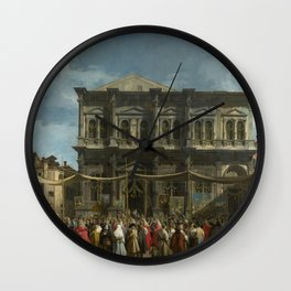 The Feast Day of St Roch by Canaletto Wall Clock