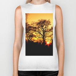 Tree with Sunset Biker Tank
